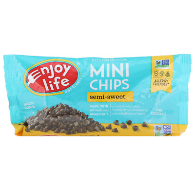 New Enjoy Life Foods Mini Chips Semi-Sweet Chocolate Dairy Nut & Soy Free Health