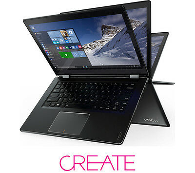 "LENOVO YOGA 510 14"" 2 in 1 Black Windows 10 8 GB RAM 256 GB SSD Storage"