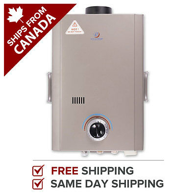 Tankless Water Heater Instant Hot Propane Portable Anywhere 1.6 GPM Eccotemp L7