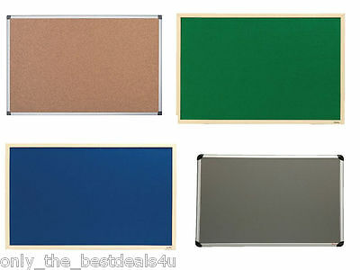 Variety of Noticeboard Felt Cork Choice of Frame and Size Free Next Day Delivery