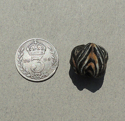 an ancient folded glass islamic bead mali #35