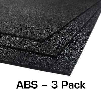 "ABS Plastic Sheet 3-Pack 12"" X 24"" X 0.0625"" (1/16"") for VEX Robotics R7 R7f"