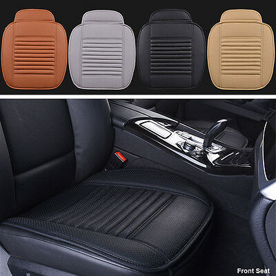 PU Leather Bamboo Car Front  Seat Protect Mat Cover Pad Breathable Chair Cushion