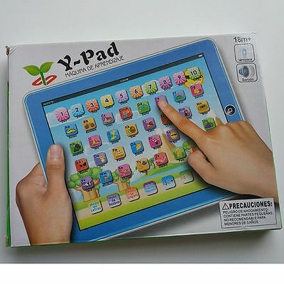 Spanish Alphabet Children Point Read Touch Learning Study Machine Computer Toy