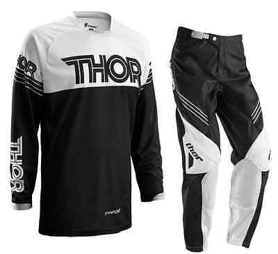 THOR MOTOCROSS PANTS & JERSEY COMBO 2016 NEW rrp $210 black #32 #34 #36 #38 #40