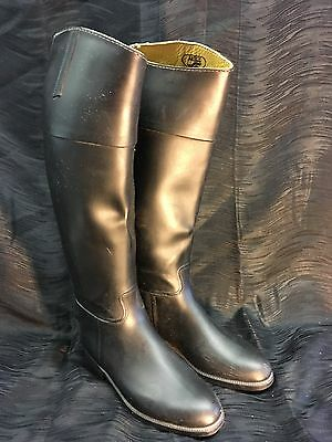 AIGLE FRANCE Size 37 Coupe Saumur Tall Rubber Riding Boots Equestrian