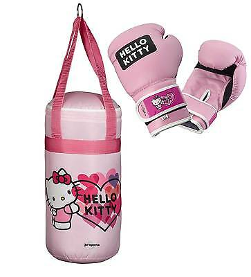 Ju-Sports Kinderboxset - Free Hugs - Hello Kitty - Boxsack und Handschuhe