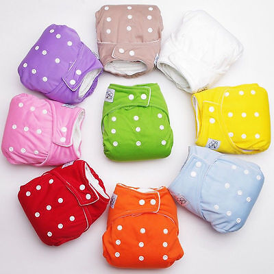 Reusable Baby Infant Adjustable Cloth Nappy Soft Cotton Washable Diaper Covers