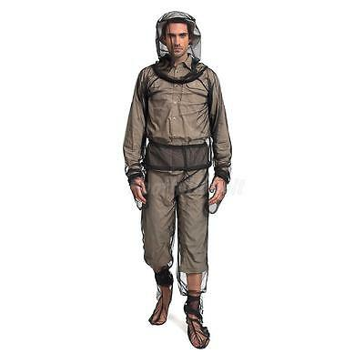 Mosquito Bug Insect Bee Net Mesh Jacket Trousers Gloves Sock Set Protector L