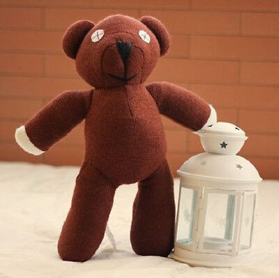 Lovely Mr Bean 10'' Brown Teddy Bear Plush Stuffed Doll Brand New Kids Toy Gift