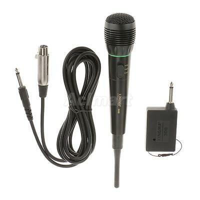 Professional Unidirectional Wired/Wireless Microphone with 3.5m Cord-Black