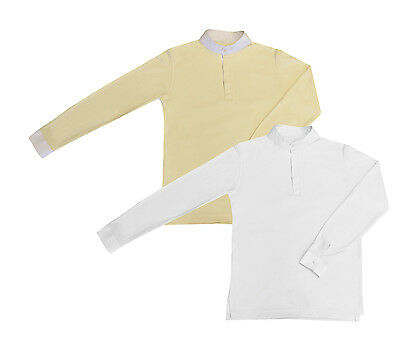 Equetech Foxhunter Shirt WHITE or CREAM **CLEARANCE SALE** + Worldwide Shipping