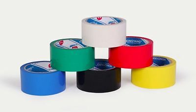 Professional Packaging Tape 50mm x 50m 6 Pack Mixed Colours