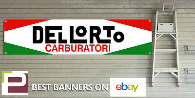 Dellorto Carbs Banner for GARAGE WORKSHOP OFFICE or MAN CAVE