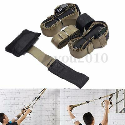 Home Gym Suspension Resistance Strength Training Strap Workout Trainer Cross Fit