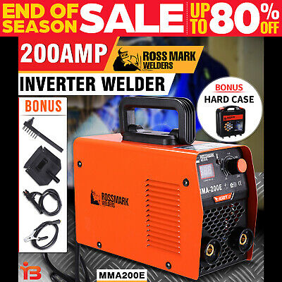 NEW ROSSMARK Welder Inverter ARC 200Amp Welding Machine DC iGBT Stick Portable