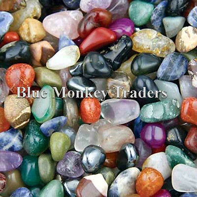 25g, 50g, 100g, 250g, 500g Small 10mm-20 mm Mixed Tumble Stones Wholesale Bulk