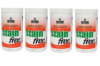 4 Pack Natural Chemistry 7410 Swimming Pool Spa STAIN FREE Remover-1.75 lbs