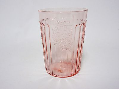 "Vintage Pink Mayfair 4"" Flat Tumbler / 7 Available / Hocking Glass Co"