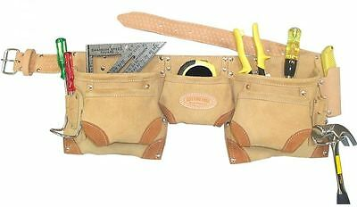 Astra Cutting Edge Carpenters Tool Apron Pouch Belt Holder Suede Leather CESLA1