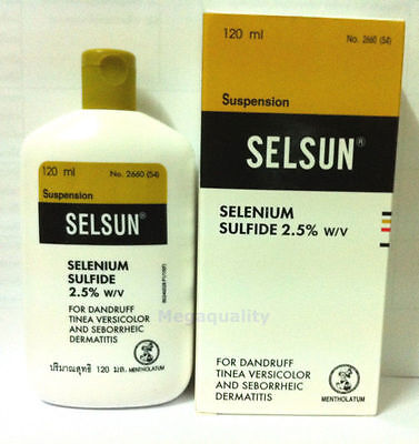 SELSUN Anti Dandruff Treatment Shampoo SELENIUM SULFIDE 120 ml. / 4oz.
