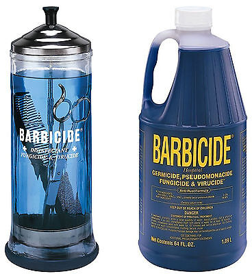 Barbicide disinfectant Jar, Solution 1.89L For Salon Spas Medical Athletic Tools