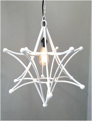 Big Shooting Star Pendant Light Fixture With Chain and Black Cloth Wire SALE