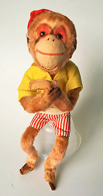 """Forsum Japan 60's Vintage Wired Bendable Monkey 10"""" Movable Head & Tail"""