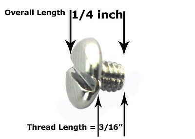 LOT OF 20 PCS 4.5 mm = 3/16 inch THREAD LENGTH SCREWS FOR CONCHOS LEATHER CRAFT