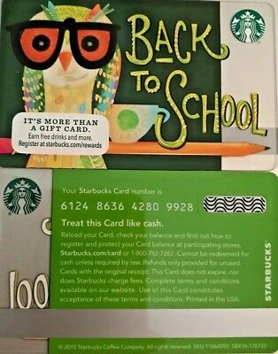 New 2015 Starbucks Back To School Gift Card  Mint - No Value