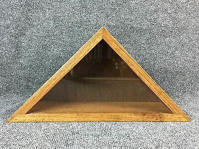 Oak Wood United States American Veterans US Military Burial Flag Display Case
