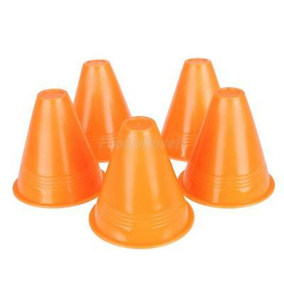 5Pcs Team Sports Training Markers Cones Soccer Rugby Skating Orange