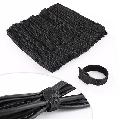 100pcs Organizador de cables Tira finitas flexible Reusable Cable Ties Organizer