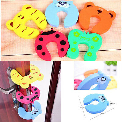4Pcs Kid Finger Protector Door Stopper Lock Jammers Pinch Guard Babies Safety