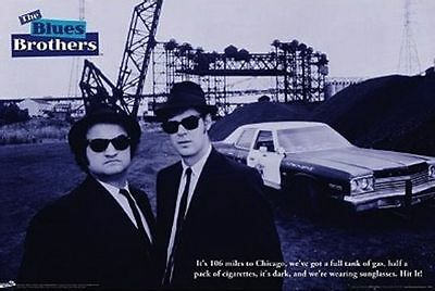 THE BLUES BROTHERS Movie Poster - 80s Musical 24x36 Print - John Belushi Aykroyd