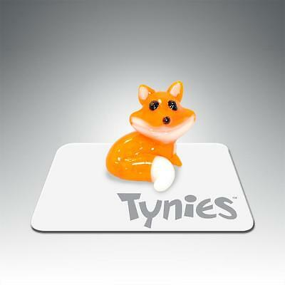FRED Fox ORANGE animal TYNIES Tiny Glass Figure Figurines Collectibles 0146