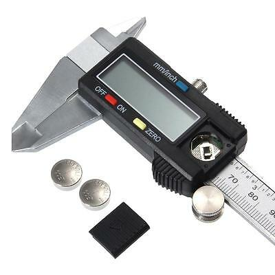 Electronic Digital LCD Steel Vernier Caliper Gauge Micrometer Tool 150mm 15cm 6""