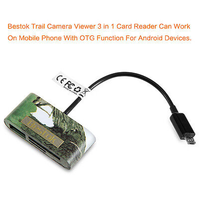 Bestok Card Reader Micro USB Connector Reads SD + Card for mart Phone