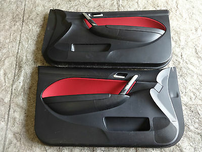 Honda Civic Type R EP3 2003-2006 Pair of Front Facelift Red Interior doorcards