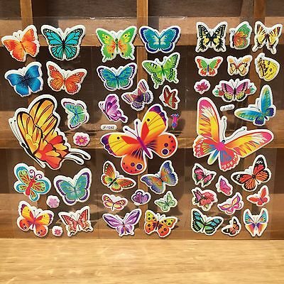 4 sheets no repeat children's cartoon butterfly Stereoscopic puffy Stickers lot