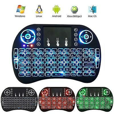 2.4G Wireless Mini Keyboard Handheld Touchpad Backlit Keyboard for PC Android