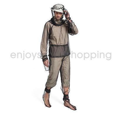 Mosquito Bugs Insect Mesh Jacket Trousers Set Camping Hiking Protect Net M