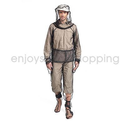 Mosquito Bugs Insect Mesh Jacket Trousers Set Camping Hiking Protect Net XL