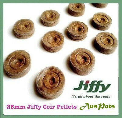 25mm x 50pcs Jiffy-7 Coir Pellets Round - Great for herbs and veggie