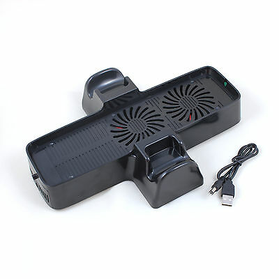 3 in 1 Vertical Charging Dock Station Cooling Fan Stand for Xbox 360 Slim