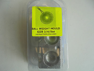 3 in 1 ball weight mould makes 3oz,4oz and 5oz leads.