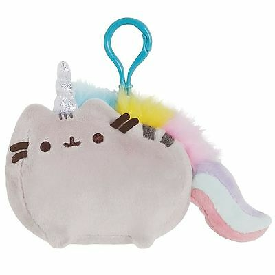 Pusheen the Cat Pusheenicorn Plush Backpack Clip-On Keychain Keyring