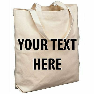 Personalised Your Text Cotton Tote Bag Shopper Colour Hen Stag Party Shopping