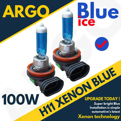 2 X H11 711 Xenon Ice Blue 100W Bulbs Front Fog Lamp Light 12V Hid Upgrade Set