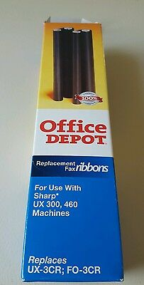 Office Depot Replacement Fax Ribbons for Sharp UX300, 460 Fax Machines